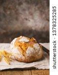 fresh homemade crisp bread on...   Shutterstock . vector #1378325285