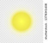 vector modern sun on... | Shutterstock .eps vector #1378341608