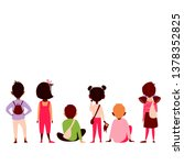 children sit back. children of... | Shutterstock .eps vector #1378352825