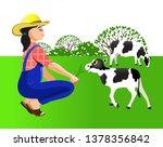 vector illustration. farmer... | Shutterstock .eps vector #1378356842