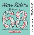 long beach surfing vintage... | Shutterstock .eps vector #1378362638