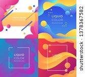 liquid color background   Shutterstock .eps vector #1378367582