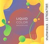 liquid color background   Shutterstock .eps vector #1378367585