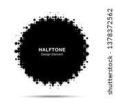 halftone circle frame abstract... | Shutterstock . vector #1378372562