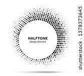 Halftone Circle Frame Abstract...