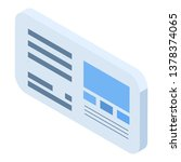 web page icon. isometric of web ...