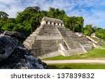 temple of inscriptions  the... | Shutterstock . vector #137839832