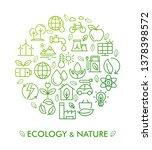 vector illustration of ecology  ... | Shutterstock .eps vector #1378398572
