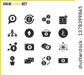 finance icons set with bitcoin...