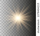 yellow sun with rays and glow... | Shutterstock .eps vector #1378404215