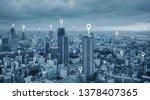 map pin gps navigation... | Shutterstock . vector #1378407365