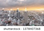 network connection technology... | Shutterstock . vector #1378407368