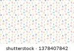 muslim icons seamless pattern.... | Shutterstock .eps vector #1378407842