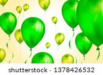 glossy green flying helium... | Shutterstock .eps vector #1378426532