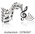 music note. | Shutterstock .eps vector #13784347