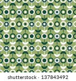 seamless pattern with flowers. | Shutterstock .eps vector #137843492