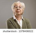 confident senior lady looking... | Shutterstock . vector #1378438322
