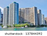 downtown toronto waterfront in... | Shutterstock . vector #137844392