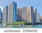 downtown toronto waterfront in... | Shutterstock . vector #137844392