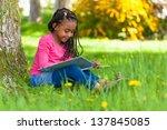 outdoor portrait of a cute... | Shutterstock . vector #137845085