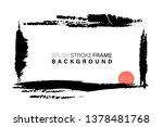 hand drawn grunge frame... | Shutterstock .eps vector #1378481768