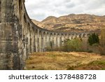 glenfinnan viaduct in scotland.   Shutterstock . vector #1378488728