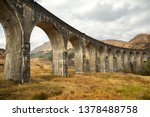 glenfinnan viaduct in scotland.   Shutterstock . vector #1378488758