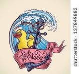 vintage tattoo design with... | Shutterstock .eps vector #137849882