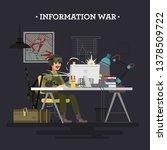 information war  color... | Shutterstock . vector #1378509722