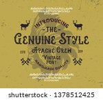 """apache crew"". retro modern... | Shutterstock .eps vector #1378512425"