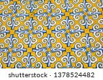 the beautiful tiles on the...   Shutterstock . vector #1378524482