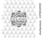oceania grey badge with... | Shutterstock .eps vector #1378524935