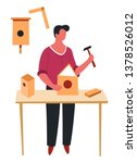 carpentry or construction male... | Shutterstock .eps vector #1378526012