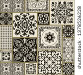 seamless patchwork tile with... | Shutterstock .eps vector #1378526228