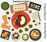 oriental food and seafood... | Shutterstock .eps vector #1378529912