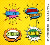 comic pages collection with... | Shutterstock .eps vector #1378537982