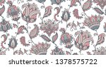 vector seamless pattern with... | Shutterstock .eps vector #1378575722