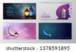ramadan kareem greeting islamic ... | Shutterstock .eps vector #1378591895