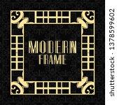 vintage ornamental modern art... | Shutterstock .eps vector #1378599602