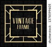 vintage ornamental modern art... | Shutterstock .eps vector #1378599605