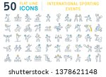set of vector line icons of... | Shutterstock .eps vector #1378621148
