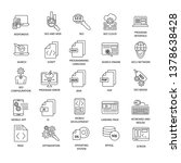 document icons black and white... | Shutterstock .eps vector #1378638428