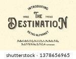 """the destination"". handmade... | Shutterstock .eps vector #1378656965"