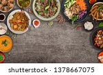 asian food background with... | Shutterstock . vector #1378667075