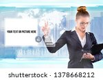young business lady works with... | Shutterstock . vector #1378668212