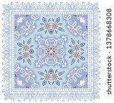 decorative colorful ornament on ... | Shutterstock .eps vector #1378668308