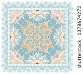 decorative colorful ornament on ... | Shutterstock .eps vector #1378674272