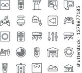 thin line icon set   airport... | Shutterstock .eps vector #1378677185