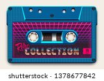 relistic bright blue audio... | Shutterstock .eps vector #1378677842