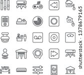 thin line icon set   baggage... | Shutterstock .eps vector #1378679165